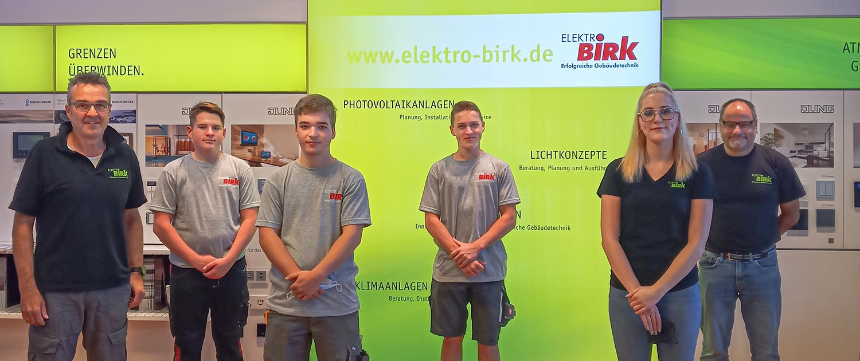 Ausbildungsstart bei Elektro Birk 2021